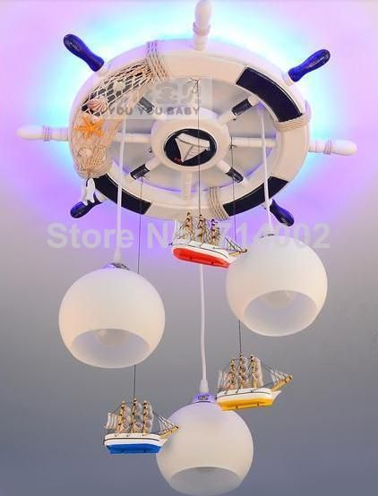 Hot Selling Light Rudder Lamp Child Lamp Child Bedroom Lights Boy Pendant Light