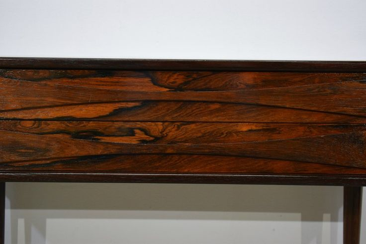 """Danish mid century rosewood dresser with two drawers. By NC Møbler Odense. Rosewood veneer and solid rosewood legs.58 x 80 x 32 cm (22.8 x 31.5 x 12.6 """")Minor s"""