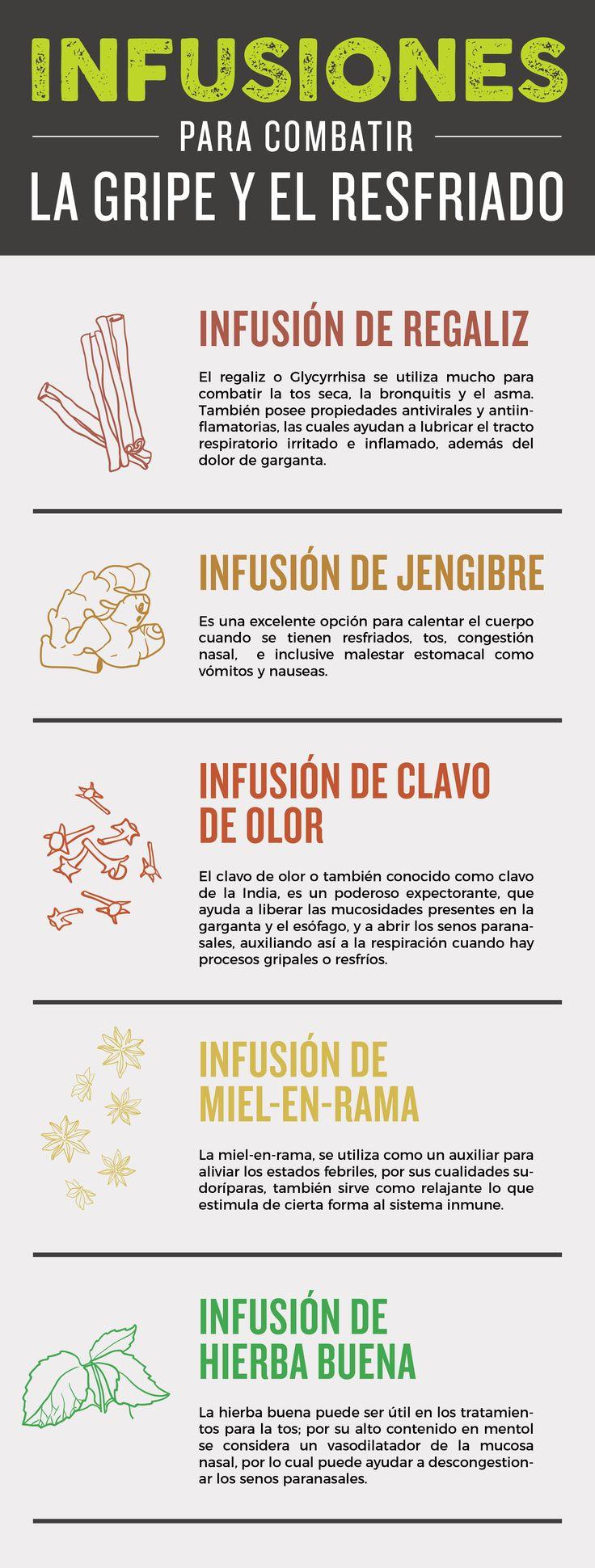 5 tés e infusiones para combatir la gripe y el resfriado Gloria Amparo Rodriguez