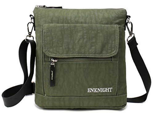 New Trending Shoulder Bags: ENKNIGHT Nylon Crossbody Purse Bag for Women Travel Shoulder handbags Green. ENKNIGHT Nylon Crossbody Purse Bag for Women Travel Shoulder handbags Green   Special Offer: $17.99      433 Reviews Happy Day starts with ENKNIGHT crossbody Bag! ENKNIGHT Let You Have practical,multiful and fashion bag and backpack.Meet your all needs. LIGHTWEIGHT and PRACTICALPerfect for...