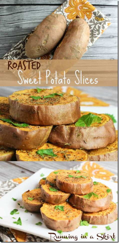 Roasted Sweet Potato Slices | Running in a Skirt