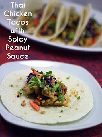 ... food thai chicken chicken tacos psd spicy peanut sauce forward thai