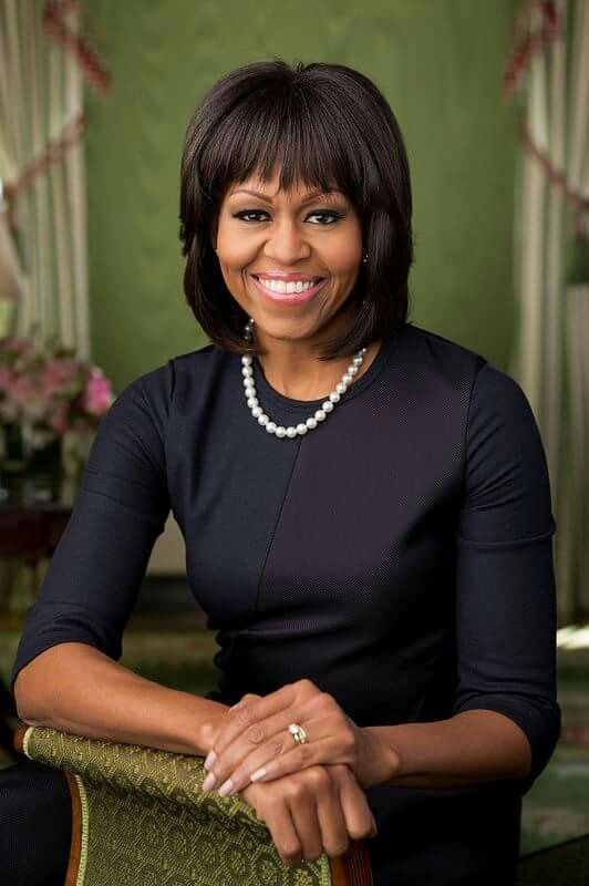 First Lady Michelle Obama's new official White House portrait 2015