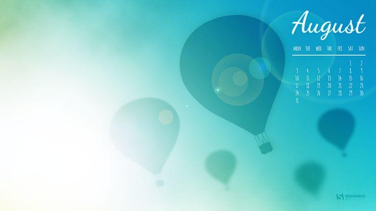 Desktop Wallpaper Calendars - August 2015 : Hot Air Balloons