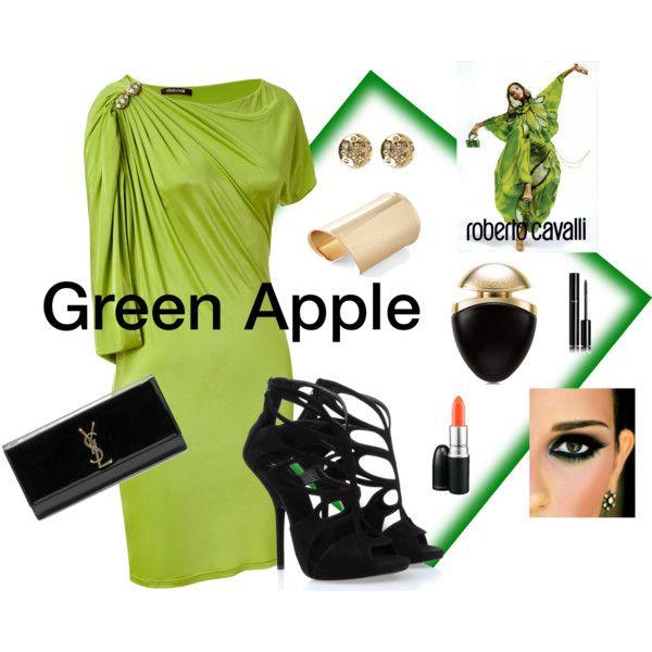 """green apple"" by patrizia-novello on Polyvore"