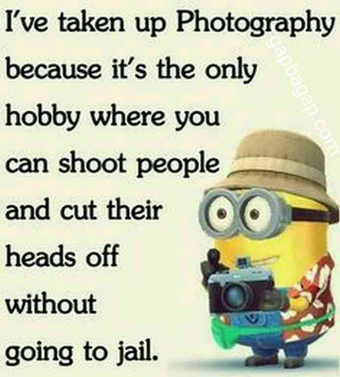 Funny Minion Quote About Photography