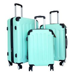 Zota 3Pc Luggage Set Hardside Rolling 4Wheel Spinner CarryOn Travel Case ABS Min…