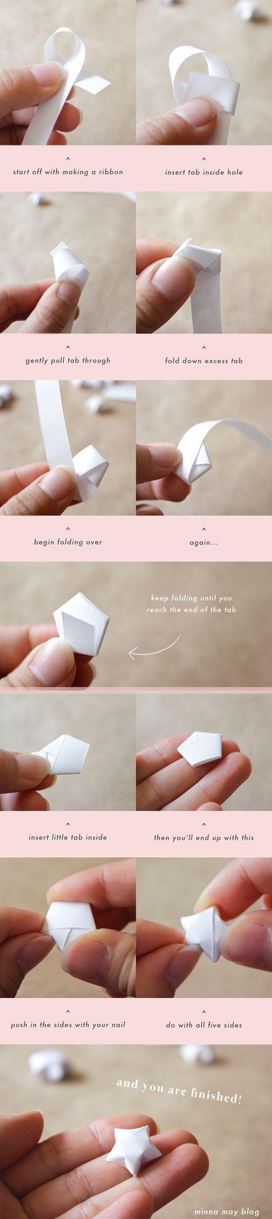Estrellas de origami para decorar #DYI #Origami #Decoracion