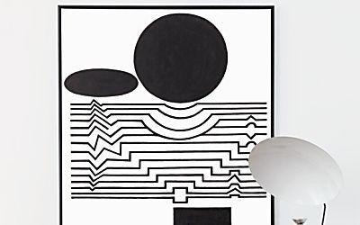 Pinturas geométricas norteiam a decoração da casa de Didier Gomez
