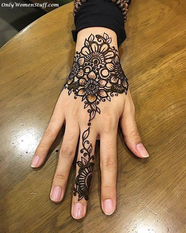 75 Beautiful Mehndi Designs Henna Hand Art: Best 25+ Easy Mehndi Designs Ideas On Pinterest