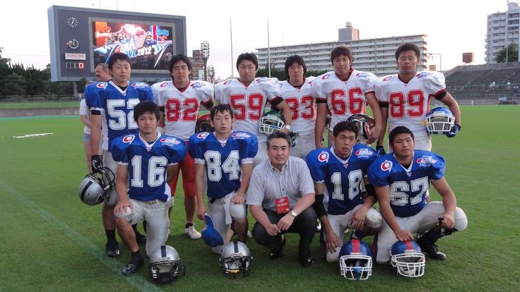 試合後、東北の招待学生の記念撮影。