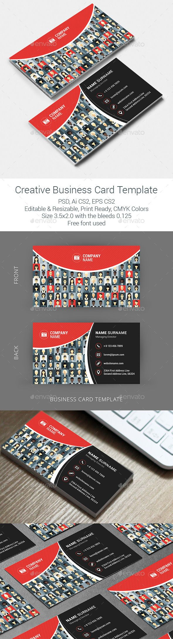 Mejores 186 imágenes de Business Card Templates en Pinterest ...