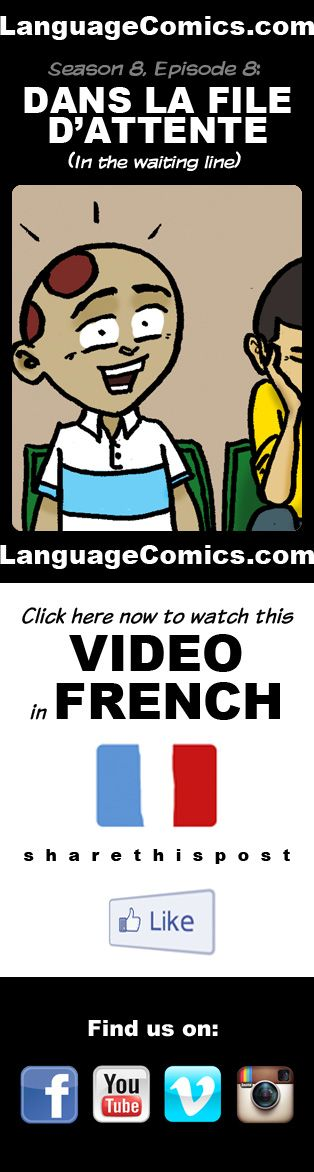 #French practice and pronunciation. Enjoy and share! https://youtu.be/Ic6XgvUpP9s