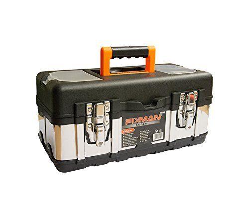 Caisse à outils en plastique et métal, mallette de rangement pour outils, casier de rangement pour outils, valise à outils, boîte à outil -…