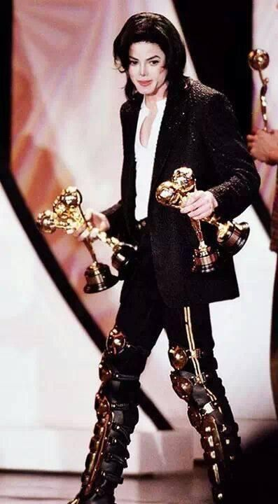 MJ with some of his many awards...