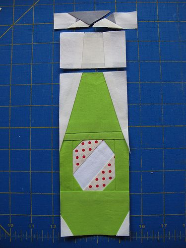 the pop bottle paper pieced pattern