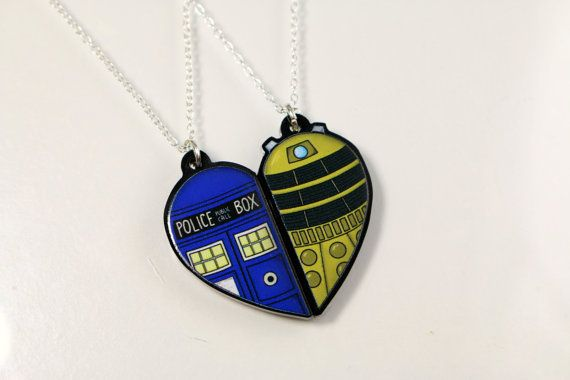 Doctor Who's Tardis and Dalek Friendship by CharmingClayCreation