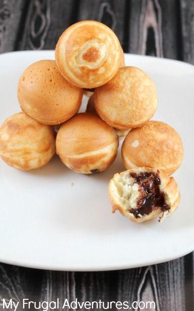 Easy pancake bites (ebelskivers recipe)