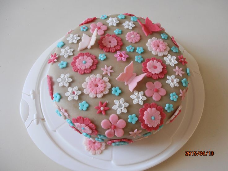 virágos tavaszi torta