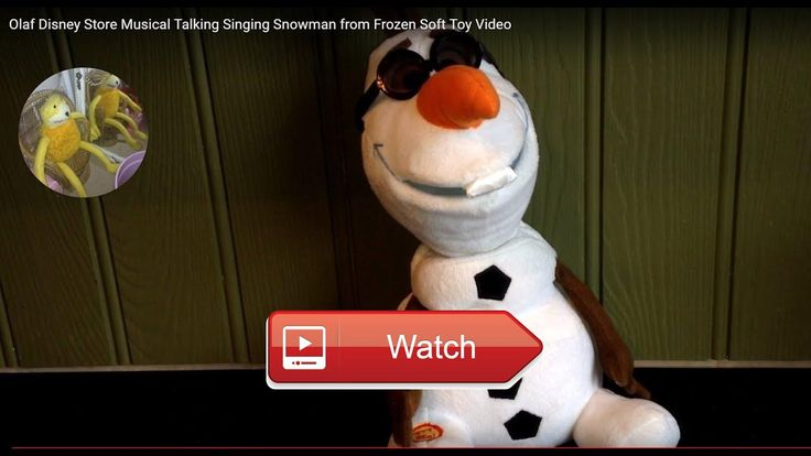 Olaf Disney Store Musical Talking Singing Snowman from Frozen Soft Toy Video Olaf the Musical Talking Singing Snowman Toy From Frozen By Disney Memory Lane Toys Games