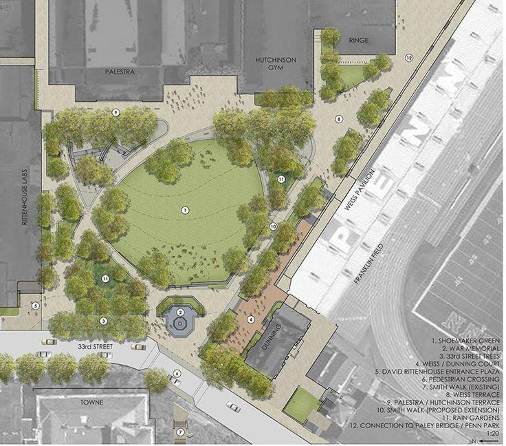 01 plan render landscape architecture works landezine for Site design architecture