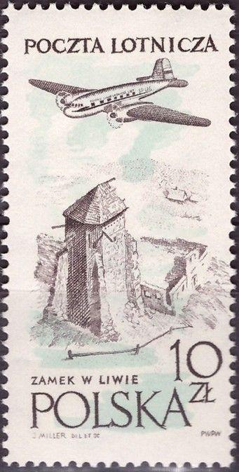Znaczek: Ruins of Liwa castle (Polska) (Poczta lotnicza) Mi:PL 1081,Sn:PL C47,Pol:PL 936