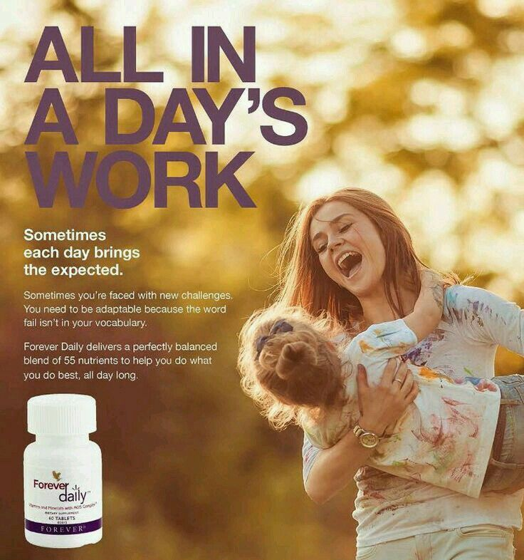 You need forever daily with 55 nutrients to be the best in what you do everyday .