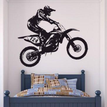 Dirt Bike Wall Stickers Bike Wall Art