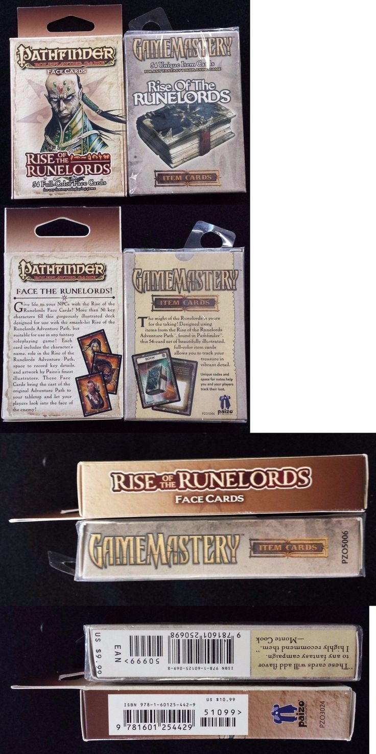 Accessories and Dice 44112: Pathfinder Game Mastery Rise Of The Runelords Face And Item Cards Adventure Paizo -> BUY IT NOW ONLY: $89.99 on eBay!