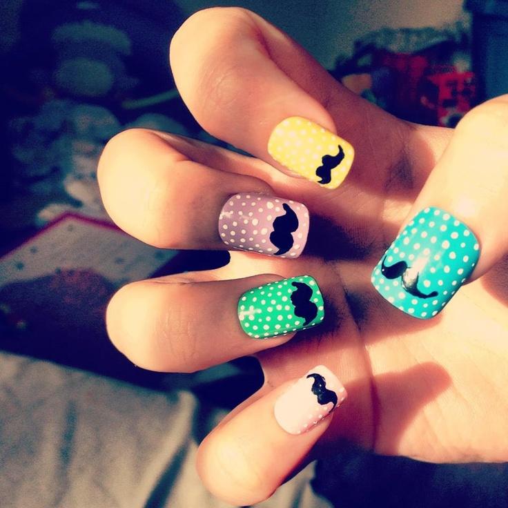 Best 25 mustache nails ideas on pinterest mustache nail art mustache nails prinsesfo Choice Image