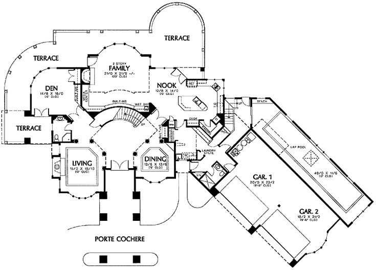 High Quality Indoor Pool House Plans