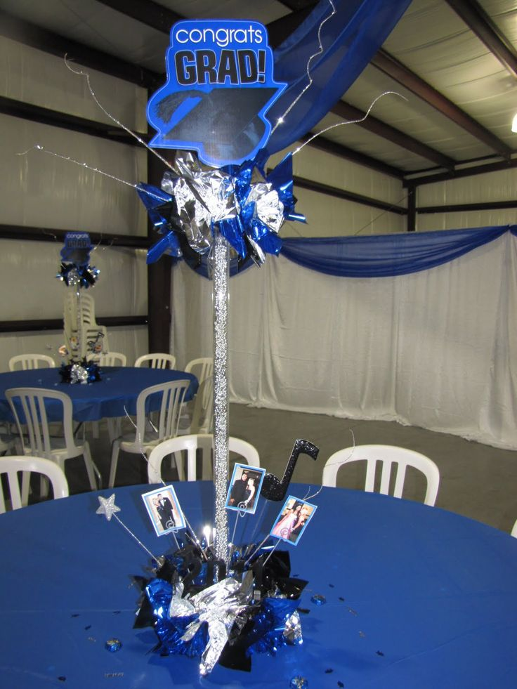 Homemade graduation centerpieces party people for Home made party decorations