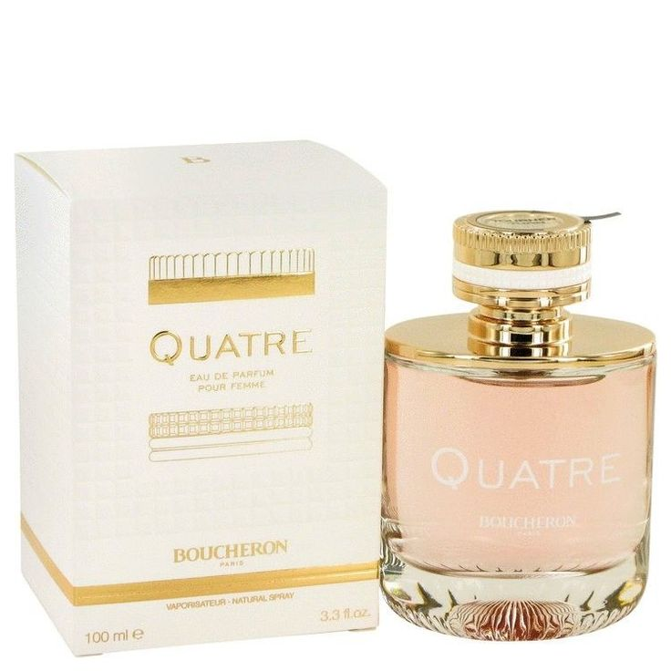 Quatre by Boucheron 3.3 / 3.4 oz Eau De Parfum Spray for Women NIB #Boucheron