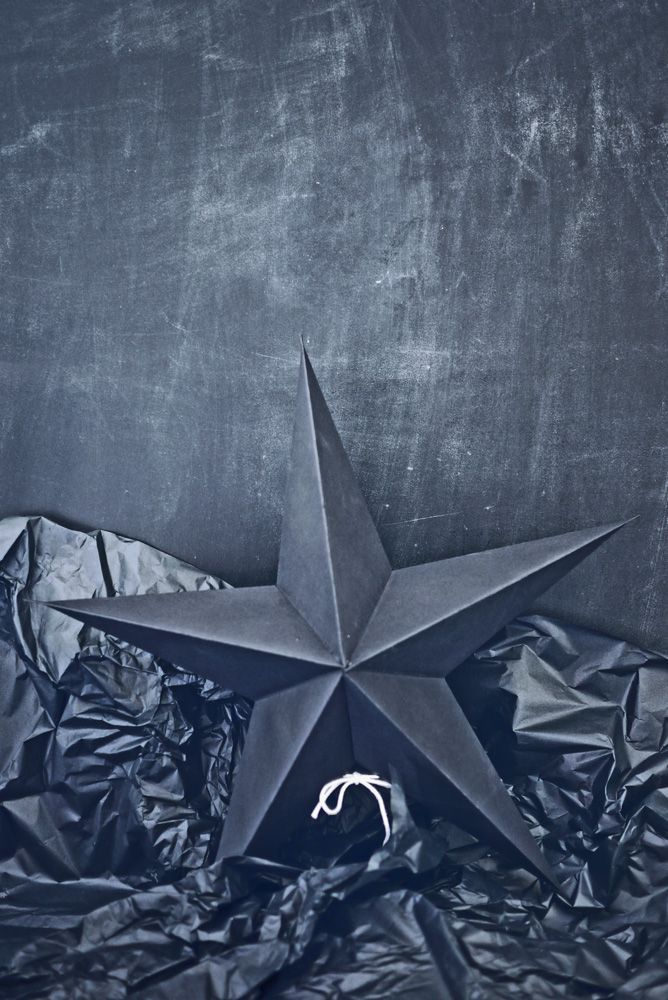 Black paper star by House Doctor • on www.stylodeco.com