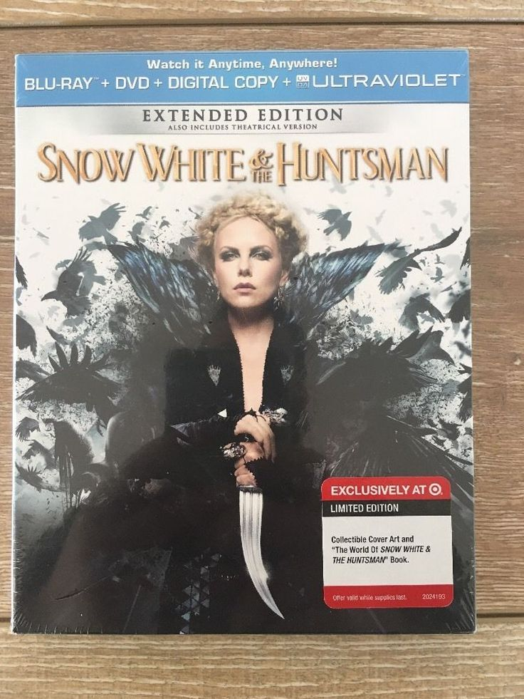 Snow White & The Huntsman Blu Ray Limited Edition Target Exclusive Extended