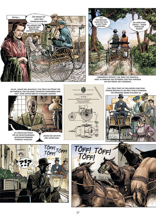"""""""Carl Benz – Ein Leben für das Automobil"""": Automobilhistorie als Comic"""
