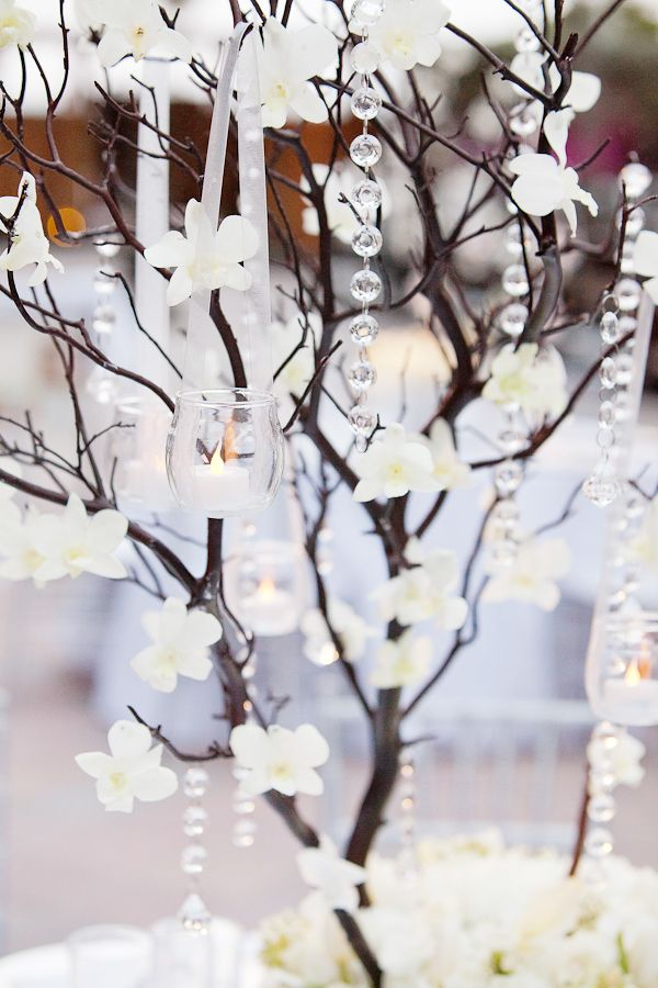Southern weddings, Southern wedding ideas, manzanita crystal centerpiece, 1313 Photography, Florida wedding