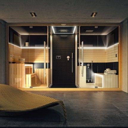 Sauna, and steam bath