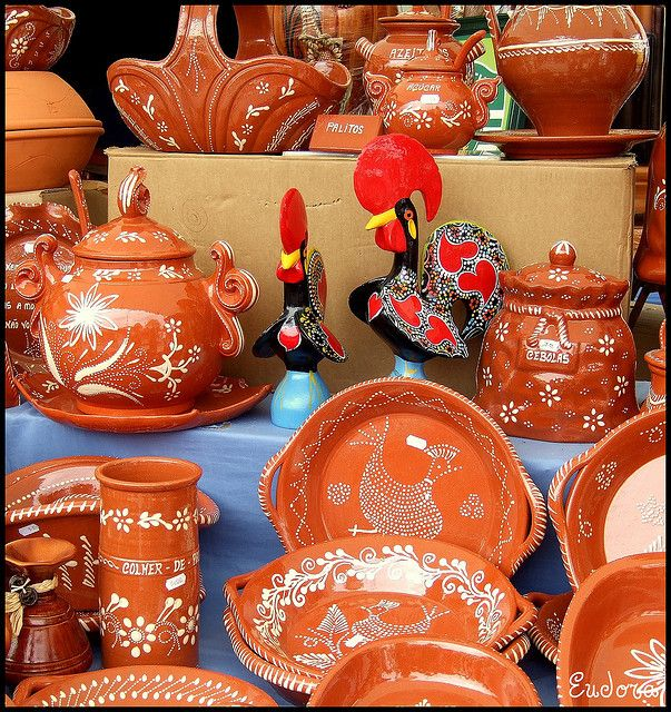 AFRICAN WORK- the pottery crafted by Barceló himself shown above are examples of his African work.  The color of the clay and the design on the pots and pans are intended to appear African.