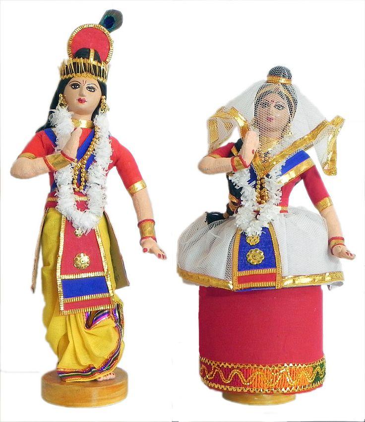 Manipuri Dancers Depicting Radha Krishna (Cloth)