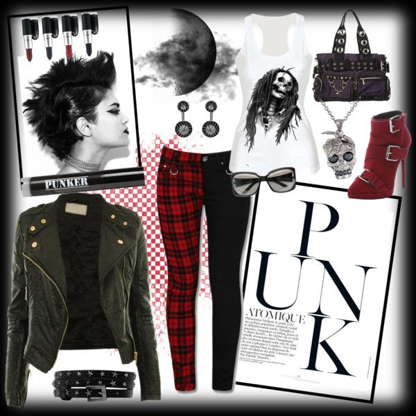 Punk Inspired. by amy-b1988 on Polyvore featuring polyvore fashion style Giuseppe Zanotti Alexander McQueen Valentino Ardency Inn