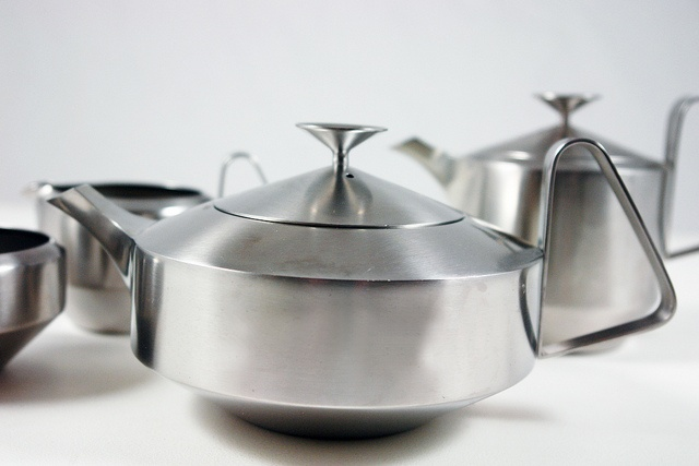 "Old Hall ""Alveston"" stainless steel tea set.  Made in Bloxwich."