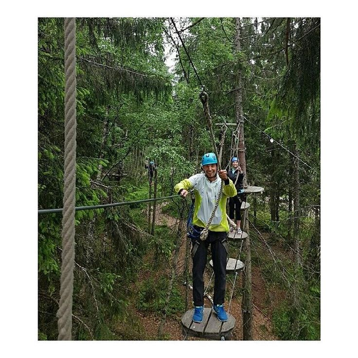 The HH Marketing TEam was doing some team building in the woods.  Hang on!  Photo from @ trinera Instagram