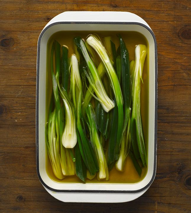 how to prepare spring onions for cooking