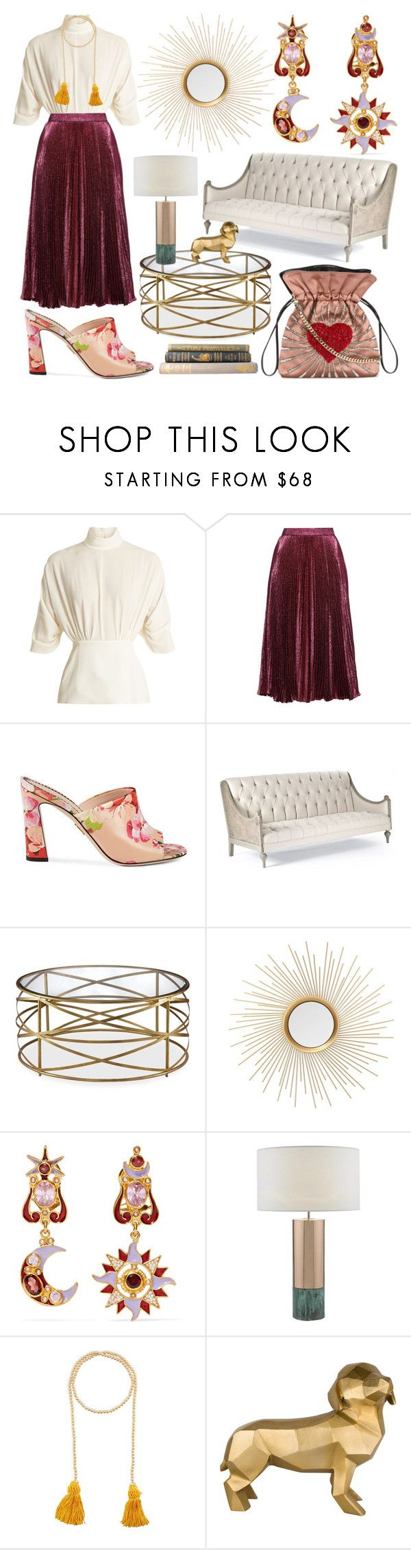 """Crushed Velvet"" by heybigtrender on Polyvore featuring Emilia Wickstead, Christopher Kane, Gucci, Diego Percossi Papi, Kenneth Jay Lane and Les Petits Joueurs"