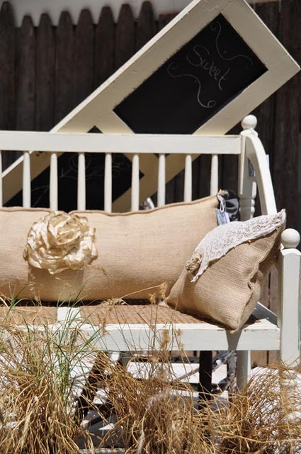 images about Burlap and Grain Sack Crafts