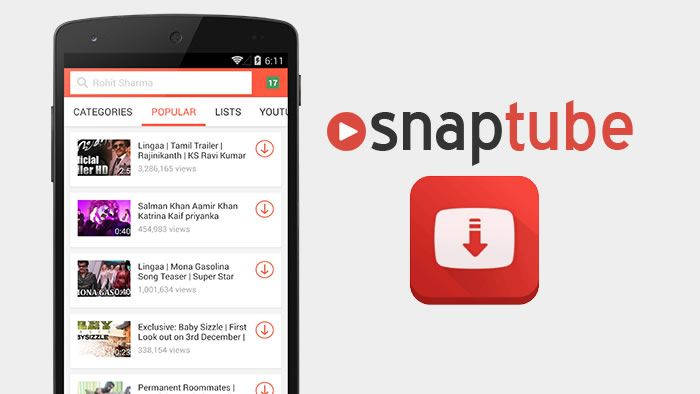 SnapTube YouTube Downloader HD Video v3.3.1.8144 Final, é
