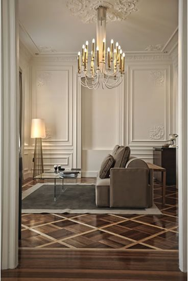Moldings can help establish HIERARCHY by calling attention to prominent elements in a room, such as doors, windows, fireplace openings, and other apertures.