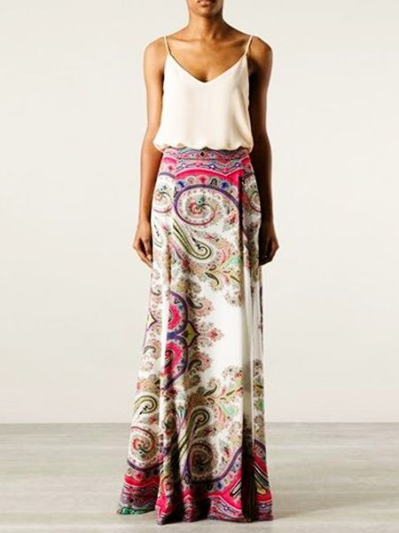 Printed Exquisite Round Neck Maxi Dress