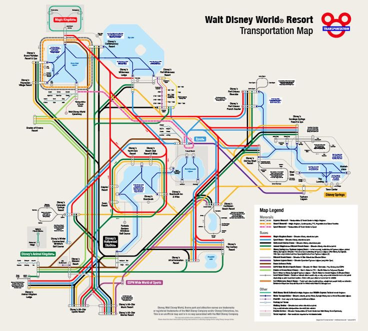 Walt Disney World Transportation Map in Metro Style by WDWFocus on Etsy https://www.etsy.com/listing/225587322/walt-disney-world-transportation-map-in